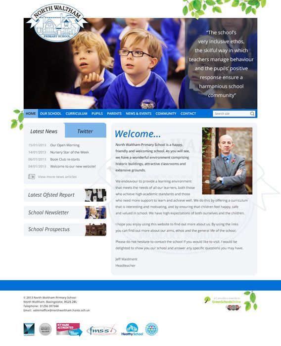 Enlarge North Waltham Primary School website design