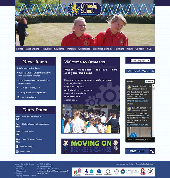 Enlarge Ormesby School website design