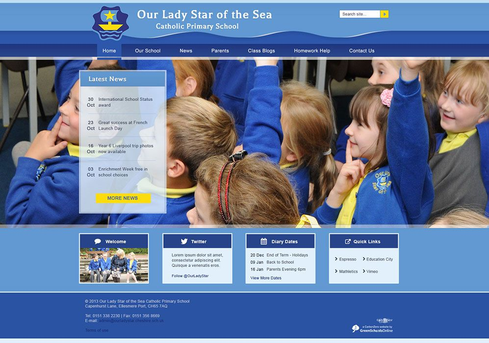 Enlarge Our Lady Star of the Sea C Primary School website design