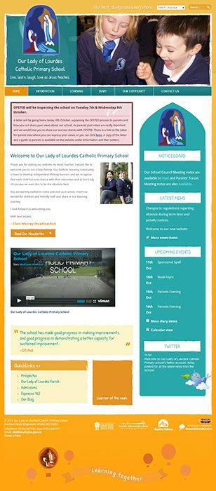 Enlarge Our Lady of Lourdes Catholic Primary  website design