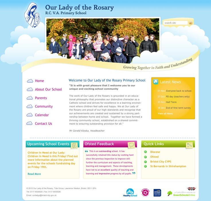 Enlarge Our Lady of the Rosary website design