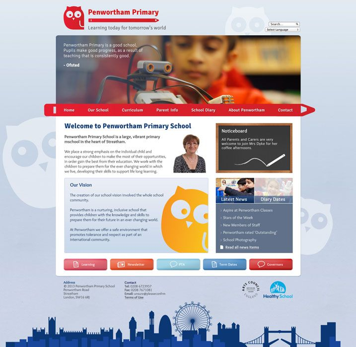 Enlarge Penwortham website design
