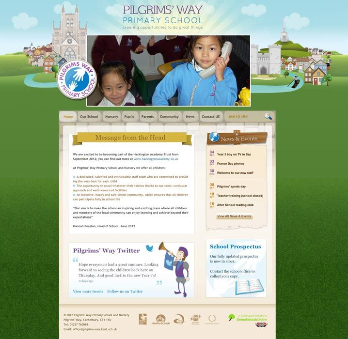 Enlarge Pilgrims' Way website design