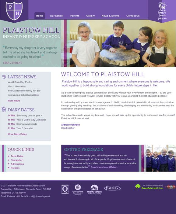 Enlarge Plaistow Hill Infant and Nursery School website design
