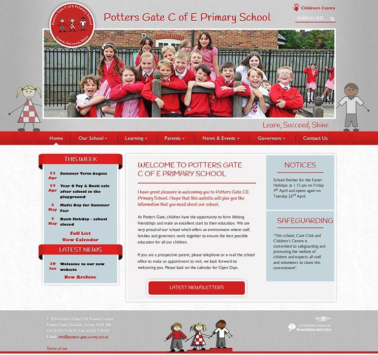 Ilam C Of E Va Primary: Click To View School Website Design For Potters Gate CofE
