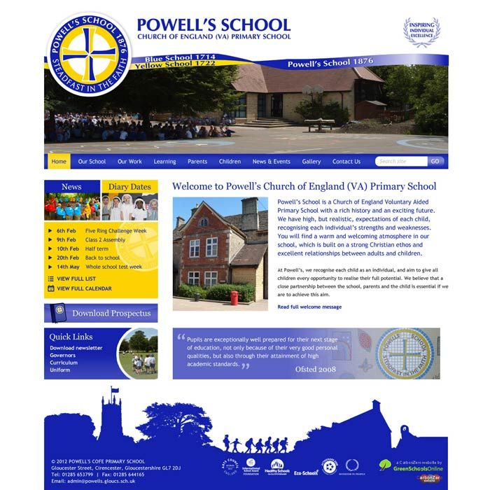 Enlarge Powell's C of E Primary School website design