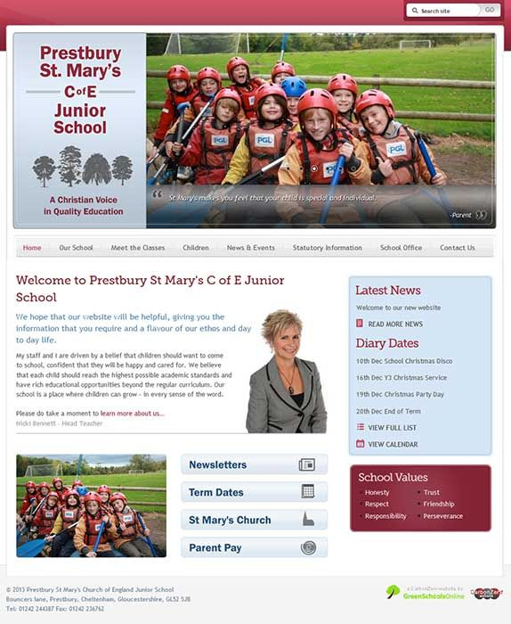 Enlarge Prestbury St Mary's website design