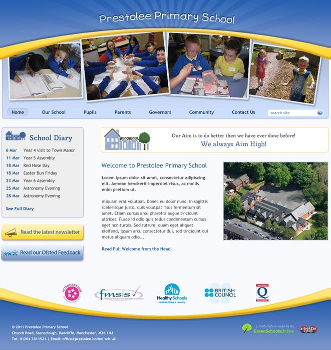 Enlarge Prestolee Primary website design