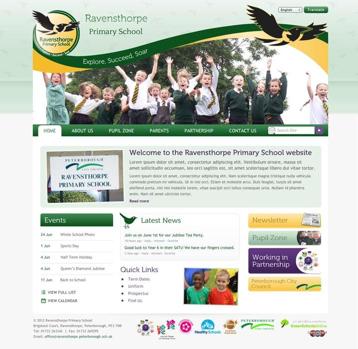 Enlarge Ravensthorpe Primary School website design