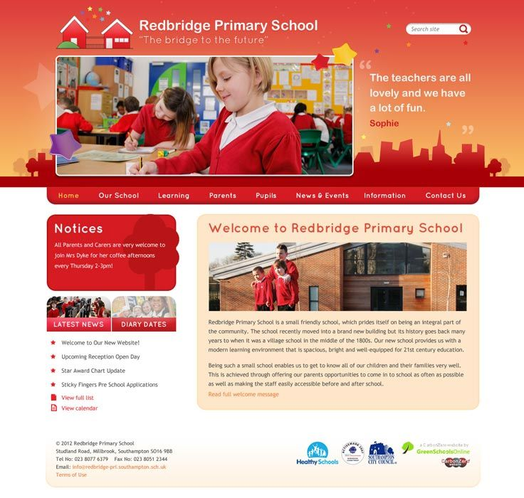 Enlarge Redbridge Primary School website design