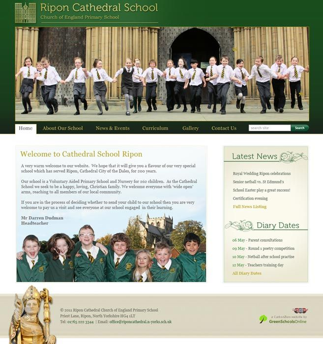 Enlarge Ripon Cathedral School website design