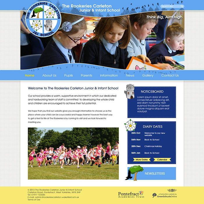 Enlarge Rookeries Carleton Junior & Infant School website design