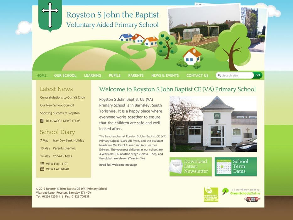 Enlarge Royston Saint John the Baptist website design