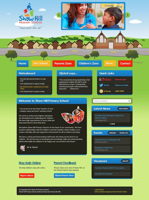 Enlarge Shaw Hill Primary School website design