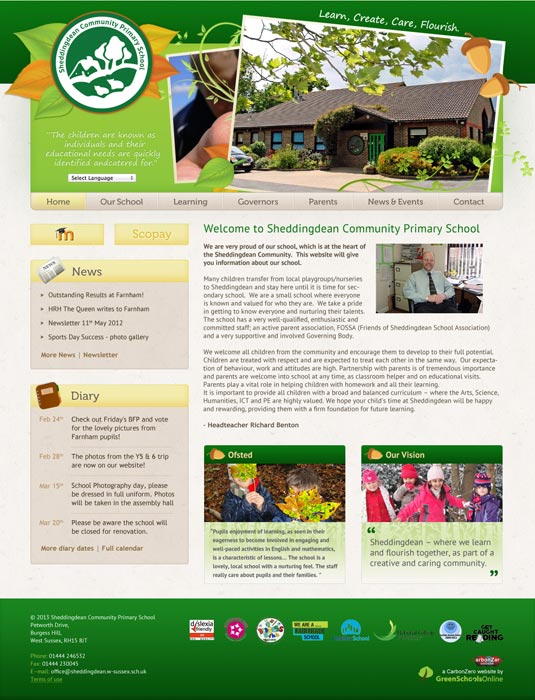 Enlarge Sheddingdean website design