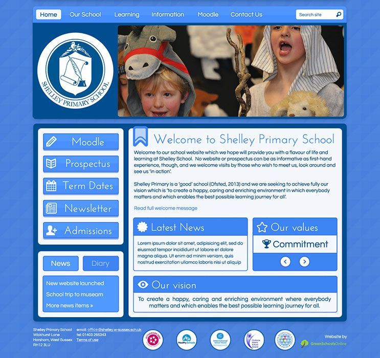 Enlarge Shelley Primary School website design