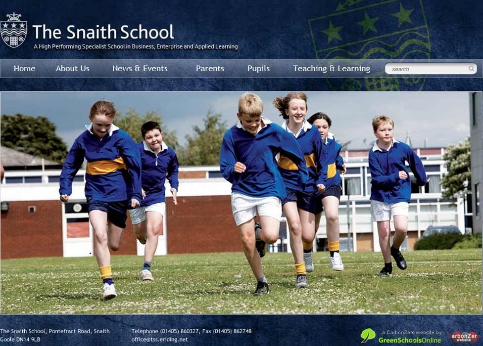 Enlarge Snaith School website design