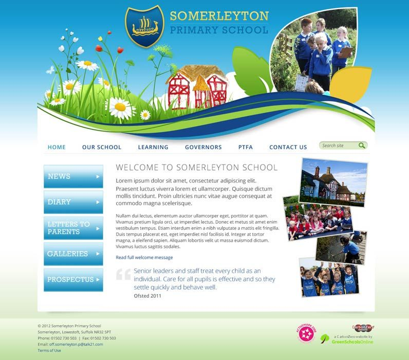 Enlarge Somerleyton Primary School website design