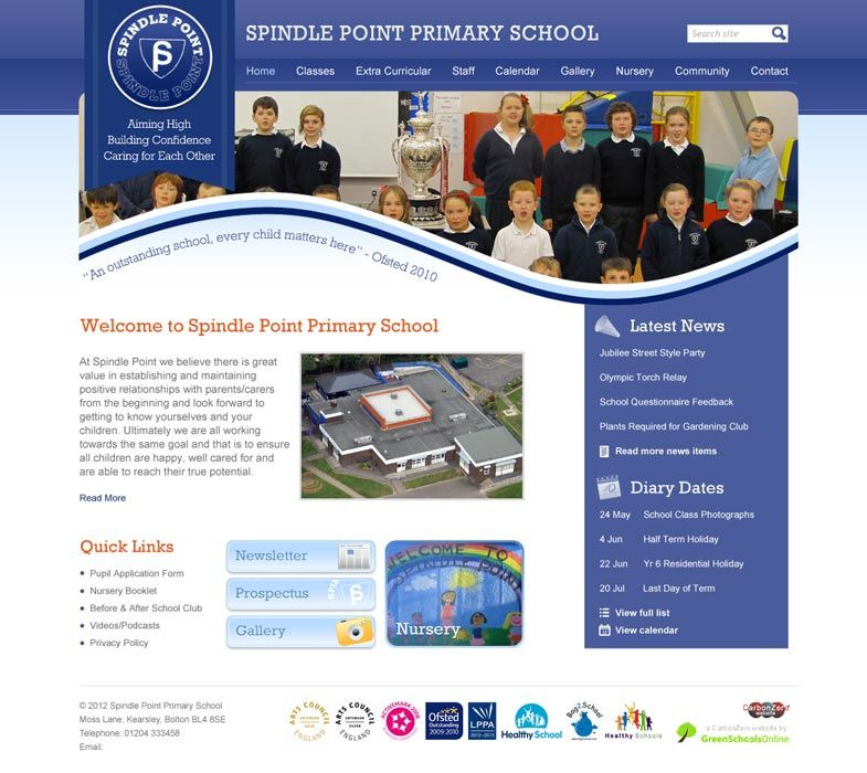 Enlarge Spindle Point website design