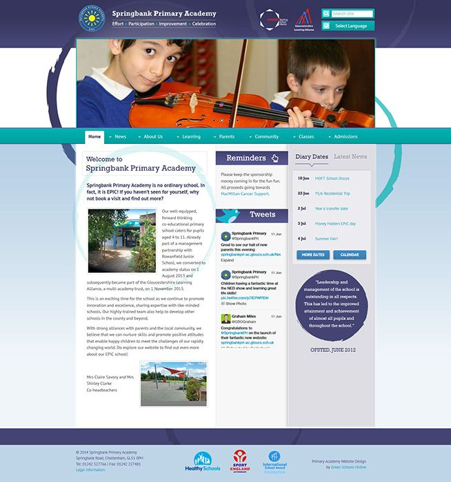 Enlarge Springbank Primary Academy website design