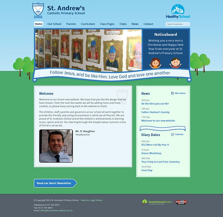 Enlarge St Andrew's Catholic Primary School website design