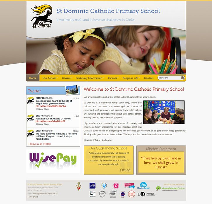 Enlarge St Dominic Catholic Primary School website design