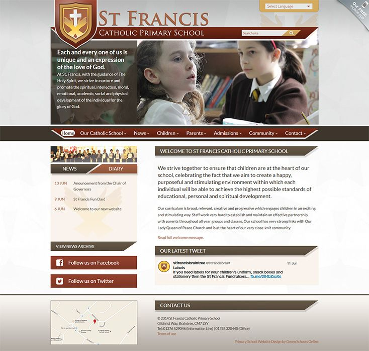 Enlarge St Francis Catholic Primary School website design