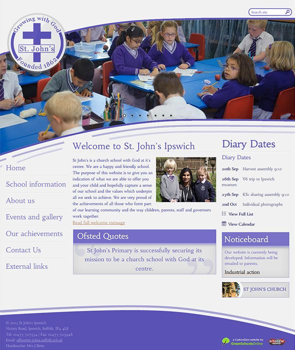 Enlarge St John's Ipswich website design