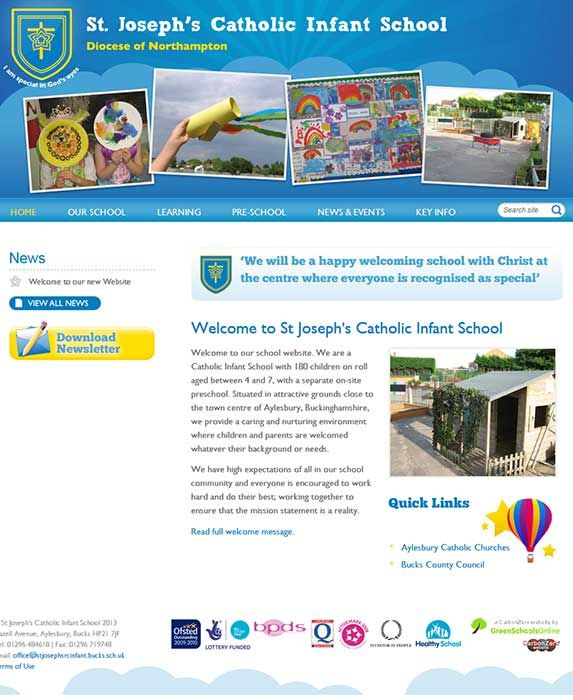 Enlarge St Joseph's (Bucks) website design