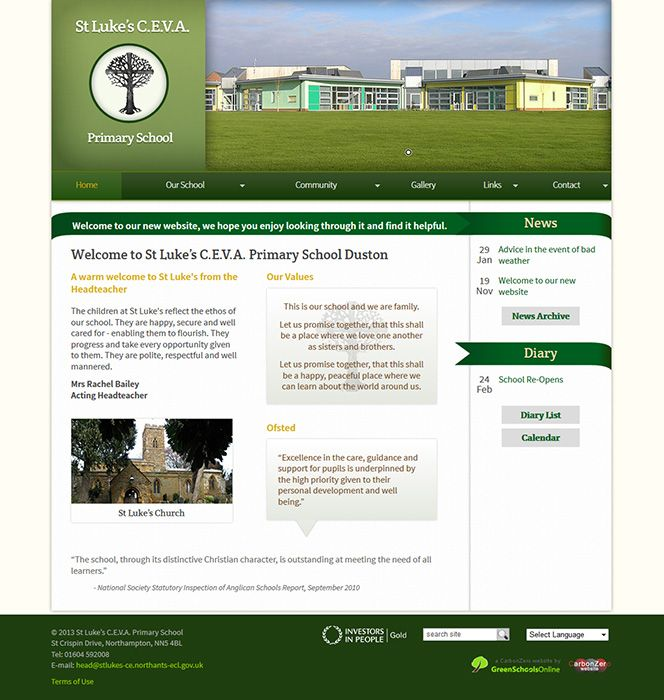 Enlarge St Luke's C.E.V.A. Primary School website design