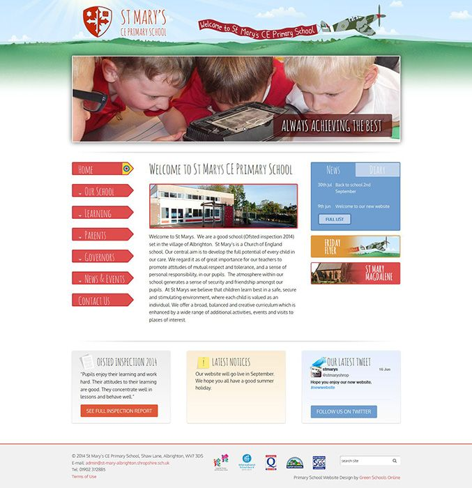 Enlarge St Marys CE Primary School website design