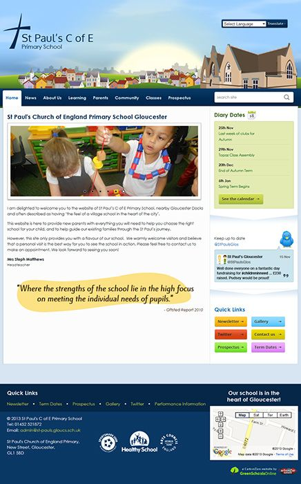 Enlarge St Paul's C of E Primary School website design