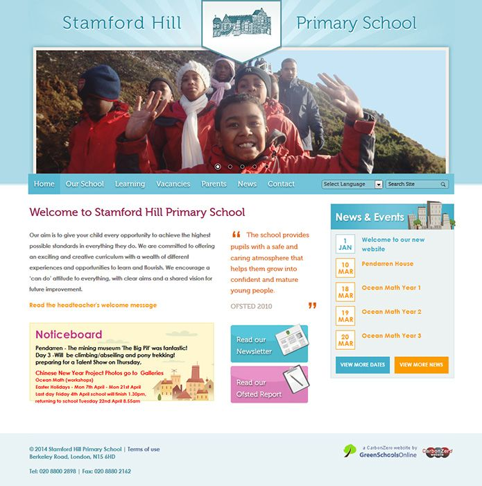 Enlarge Stamford Hill Primary School website design