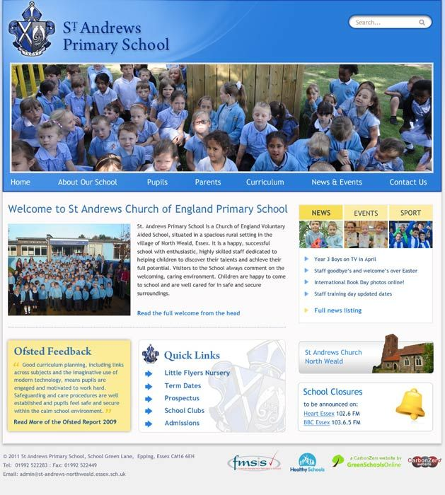 Enlarge St Andrew's (North Weald) website design