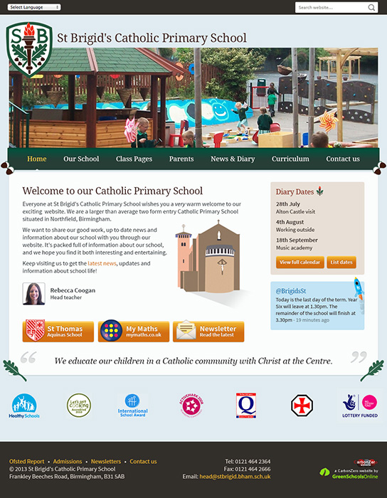 Enlarge St Brigid's Catholic Primary School website design