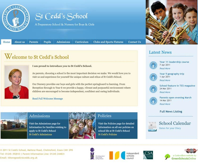 Enlarge St Cedd's School website design