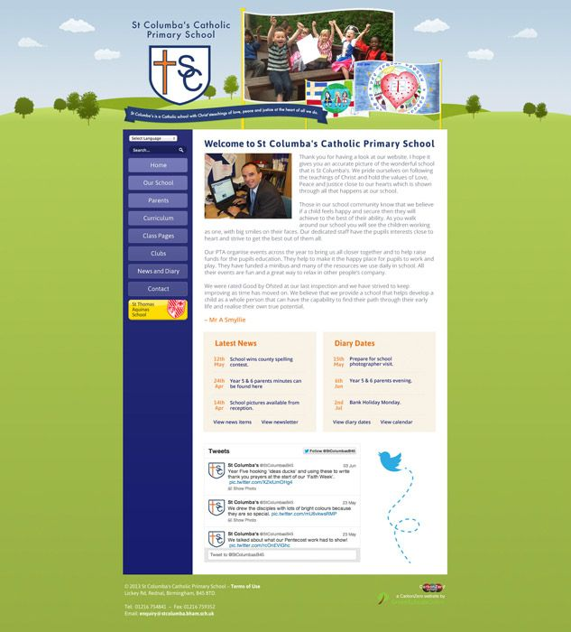 Enlarge St Columba's website design