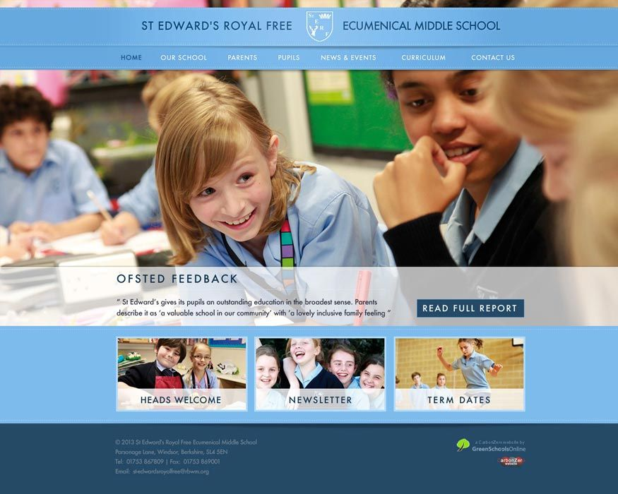 Enlarge St Edward's Royal Free Middle website design