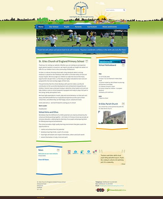 Enlarge St. Giles CE (A) Primary School website design