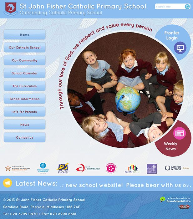 Enlarge St John Fisher Catholic Primary School website design