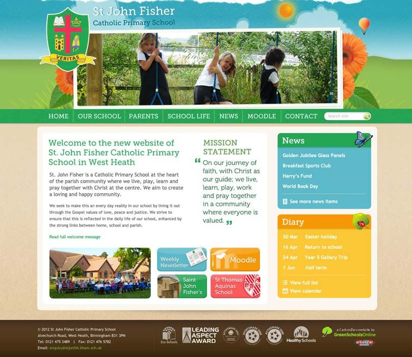 Enlarge St John Fisher Primary website design
