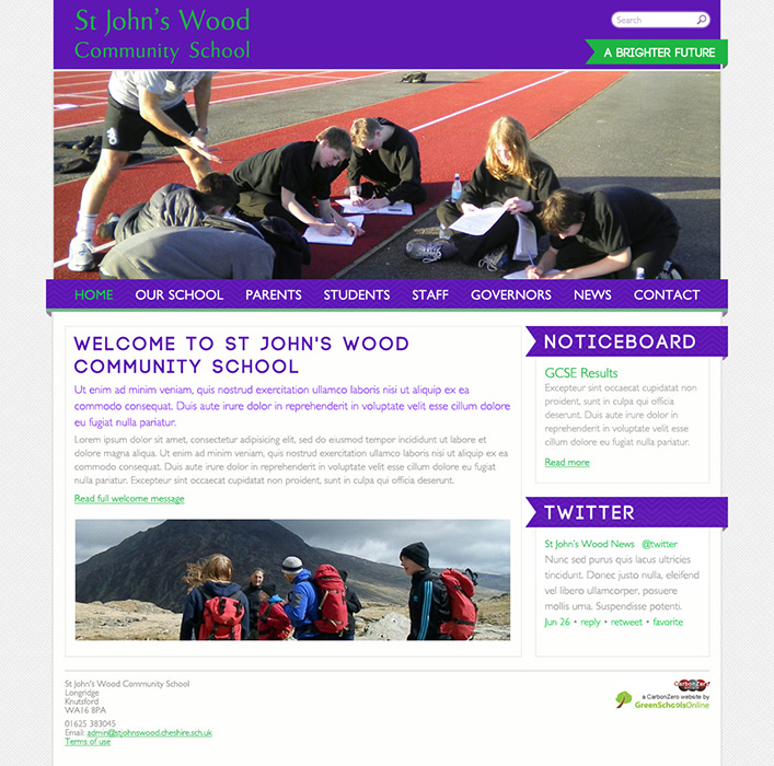 Enlarge St John's Wood CS website design