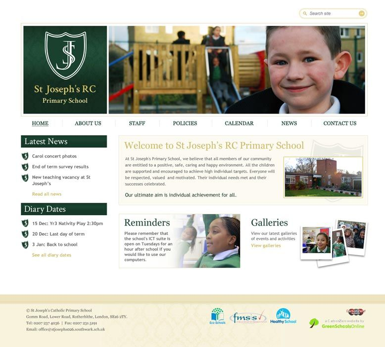 Enlarge St Joseph's RC Primary School website design