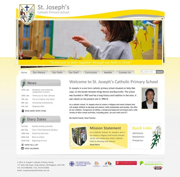 Enlarge St Joseph's Selly Oak website design