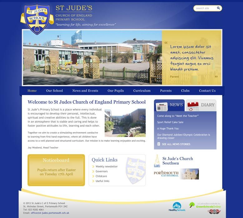 Enlarge St Jude's Primary School website design