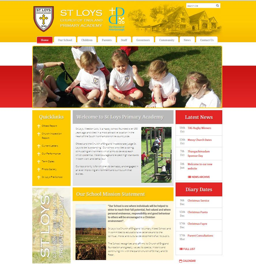 Enlarge St Loys Church of England Primary Academy website design