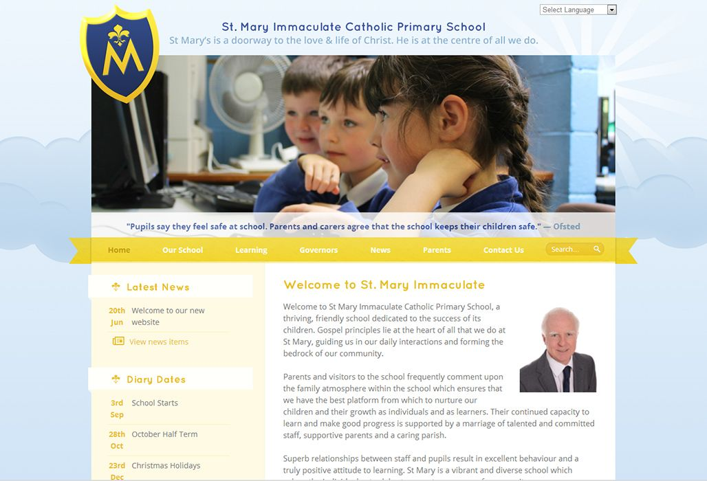 Enlarge St Mary Immaculate Catholic Primary  website design