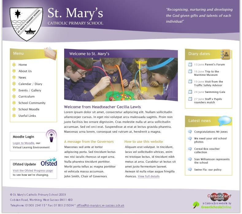 Enlarge St Mary's (Worthing) website design