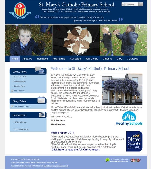 Enlarge St Mary's (Eltham) website design