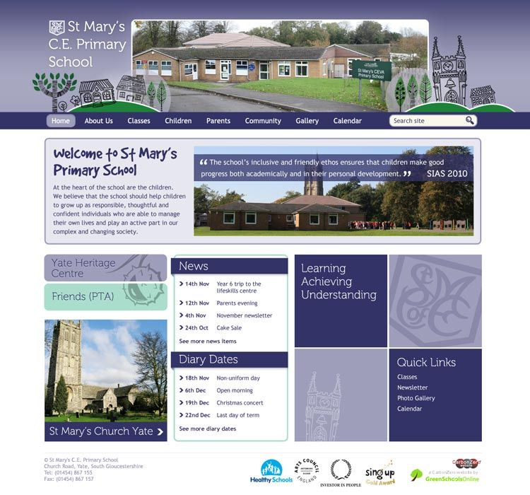 Enlarge St Mary's (Yate) website design